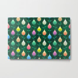 Tulips Seamless Pattern Metal Print