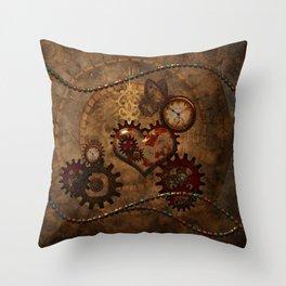 Steampunk, noble design Throw Pillow