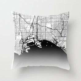 City Map Neck Gaiter Long Beach California Neck Gator Throw Pillow