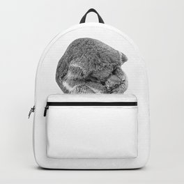 koala holding little koala b&w Backpack