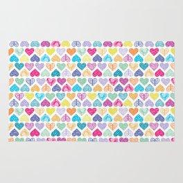 Rainbow Wild Hearts Rug
