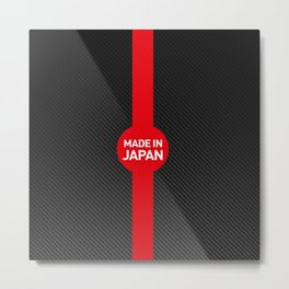 Made in Japan Carbon Metal Print