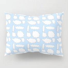 clouds 5-cloud,sky,skies,vapor,fog,mist,cloudscape,nube,atmosfera,atmosphere,cielo,air Pillow Sham