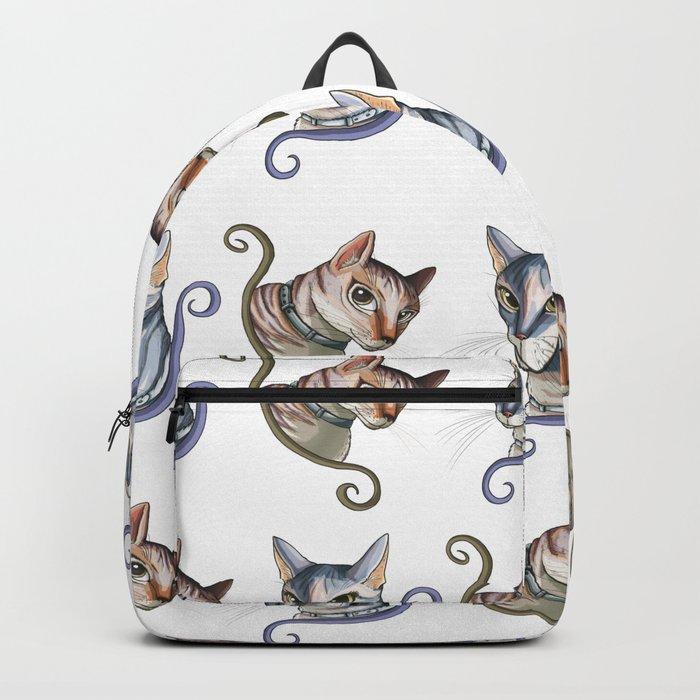 Cats love pattern Backpack