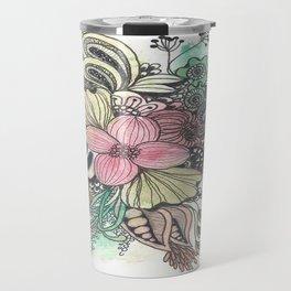 Huiu Flowers Travel Mug