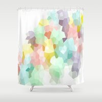 pastel goth Shower Curtains featuring Pastel  by 2sweet4words Designs