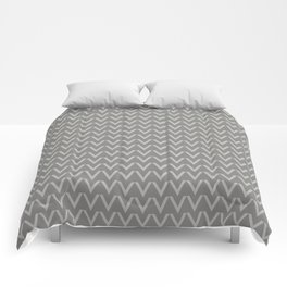 Chevron V Shapes Horizontal Lines Benjamin Moore 2019 Color of the Year Metropolitan Light Gray AF-6 Comforters