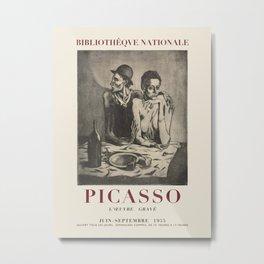 Pablo Picasso. Exhibition poster for Bibliothèque nationale in Paris, 1955. Metal Print