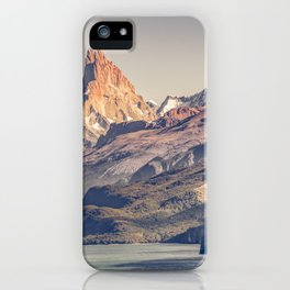 Fitz Roy and Poincenot Andes Mountains - Patagonia - Argentina iPhone Case