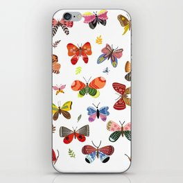 Butterfly Illustration Watercolor iPhone Skin