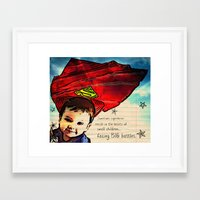 superheros Framed Art Prints featuring Superheros by Dillon Ryan