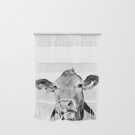 Cow photo - black and white Wall Hanging