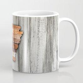 Rustic Arkansas Shape Coffee Mug