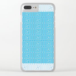 Blue Texture Clear iPhone Case