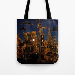 San Francisco! (Night, landscape version) Tote Bag