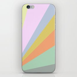 Pastel Rainbow Sunburst Illustration iPhone Skin