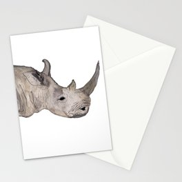 Watercolor Rhino Stationery Cards