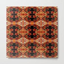 Traditional Christmas Star Pattern Metal Print