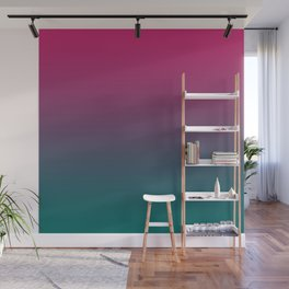 Pink Green Gradient Pattern Wall Mural