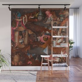 "Hieronymus Bosch ""The Last Judgment"" triptych (Bruges) cental panel Wall Mural"
