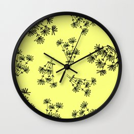 yellow flower eaters Wall Clock