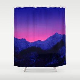 Dawn in Mountains Shower Curtain