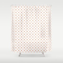 Criss Cross Dots Shower Curtain