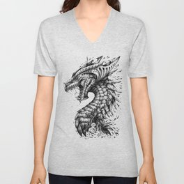 Dragon's Outrage Unisex V-Neck