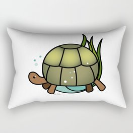 Turtle in a Circle Rectangular Pillow