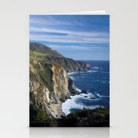 big sur Stationery Cards featuring Big Sur by Brie Anne Demkiw