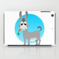donkey iPad Cases featuring Little donkey by tuditees