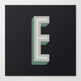 Type Seeker - E Canvas Print