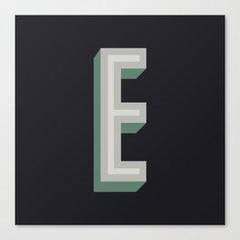 Type Seeker - E Canvas Print