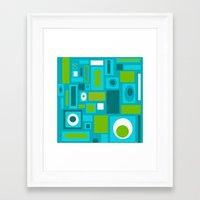 brooklyn Framed Art Prints featuring Brooklyn by Crash Pad Designs