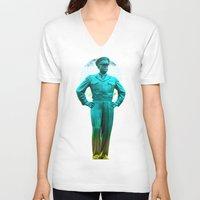 general V-neck T-shirts featuring general, Eisenhower by seb mcnulty