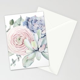 Succulent Blooms Stationery Cards