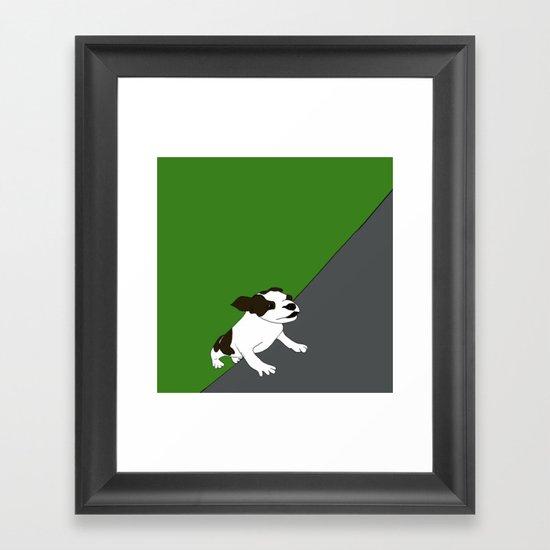 Annie The Boston Terrier Framed Art Print