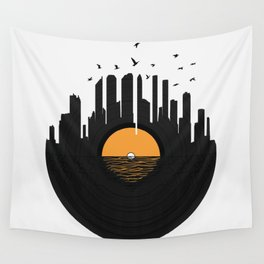 Vinyl City Wall Tapestry