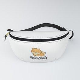 Just a Girl Who Loves Pomeranians Cute Pomeranian Dog Fanny Pack
