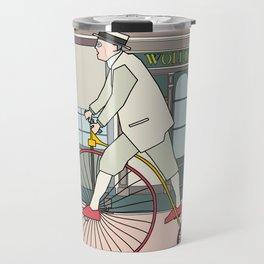 Steampunk Penny-Farthing Velocipedes Travel Mug