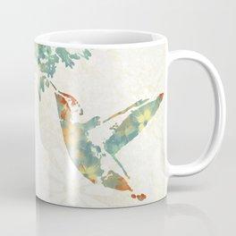 Colorful Teal Hummingbird Art Coffee Mug