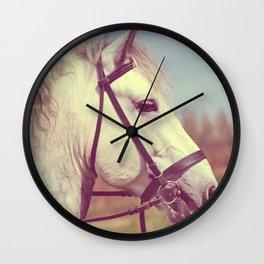 Percheron Horse Portrait  Wall Clock