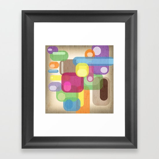 Retro Make'a Me Smile.  Framed Art Print