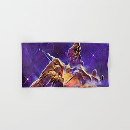 ALTERED Hubble Mystic Mountain- Carina Nebula Hand & Bath Towel
