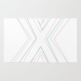 Intertwined Strength and Elegance of the Letter X Rug
