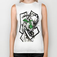 one piece Biker Tanks featuring One Piece - Zoro by RISE Arts