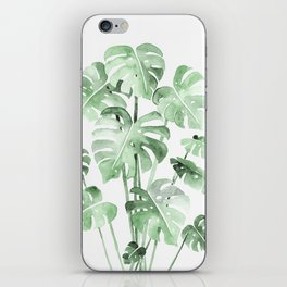 Delicate Monstera Green #society6 iPhone Skin