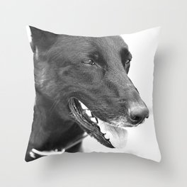 Mitzi, a bit older Throw Pillow