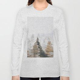 Watercolor Pine Trees 3 Long Sleeve T-shirt