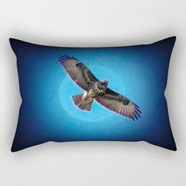 Bird of prey in the moonlight Rectangular Pillow